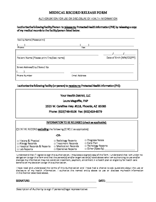 Patient Forms - Your Health District